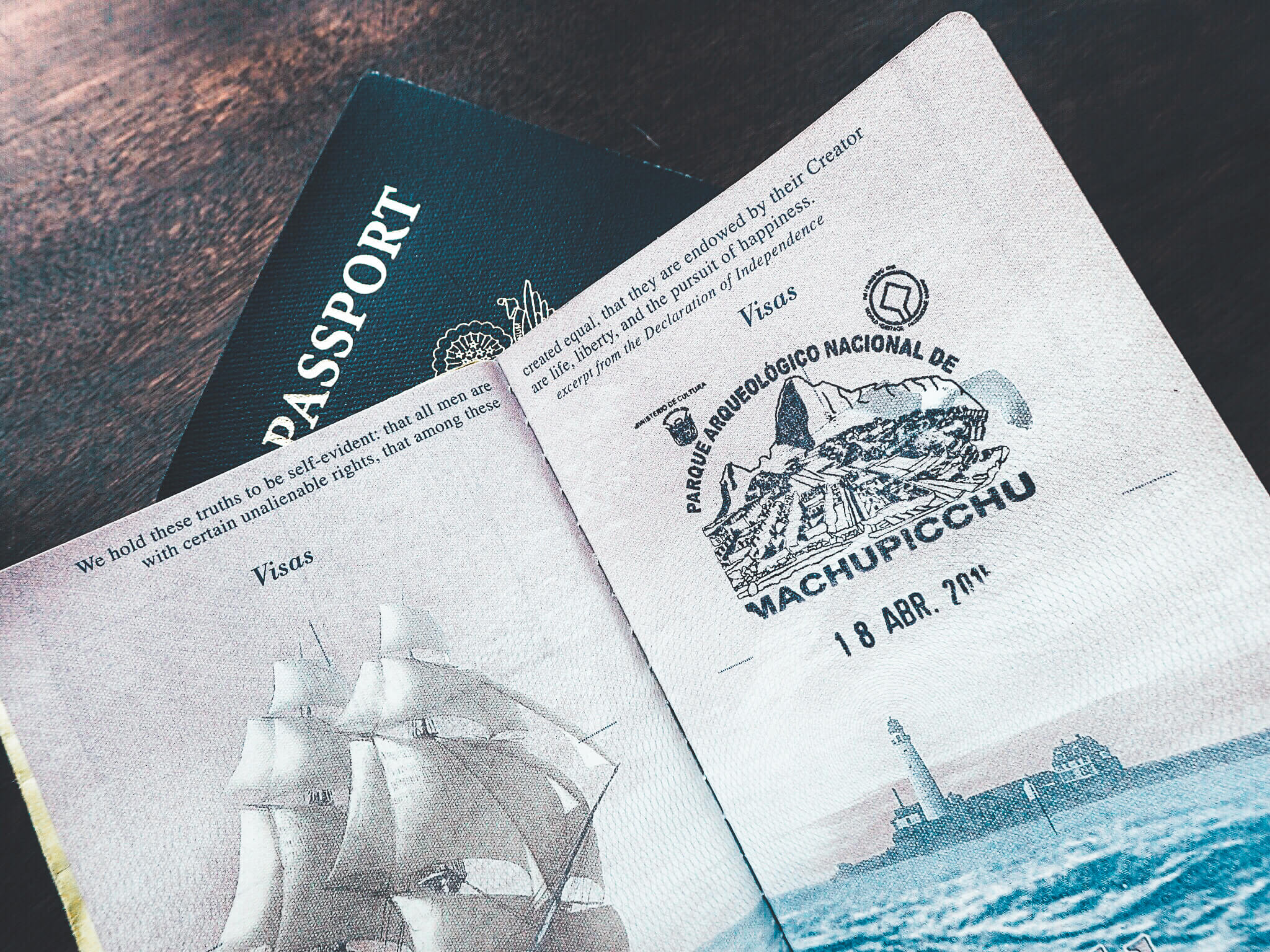 Machu Picchu passport