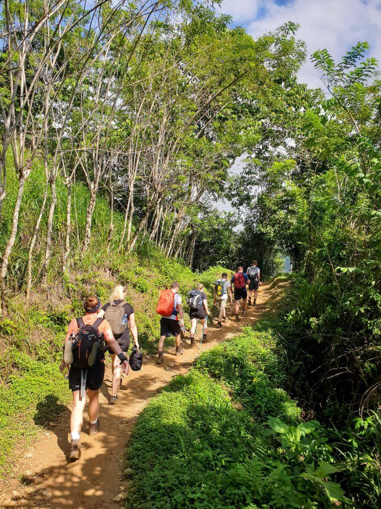 groep hike ciudad perdida