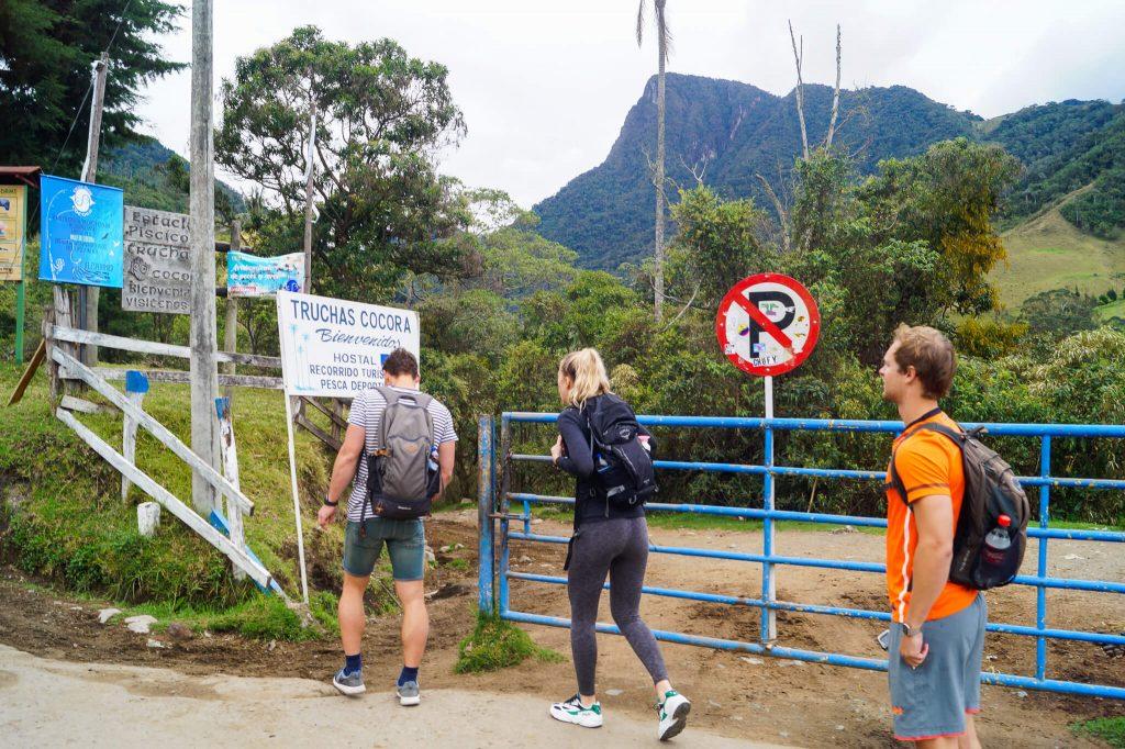 hiken naar Valle de cocora lange route