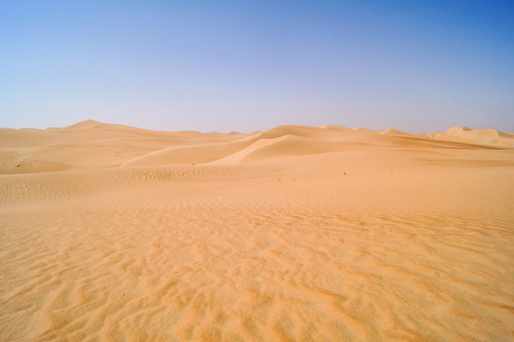 woestijn Abu Dhabi