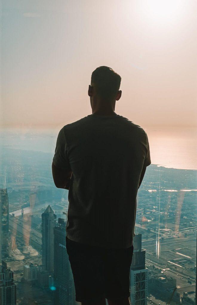 Zonsondergang Burj Khalifa