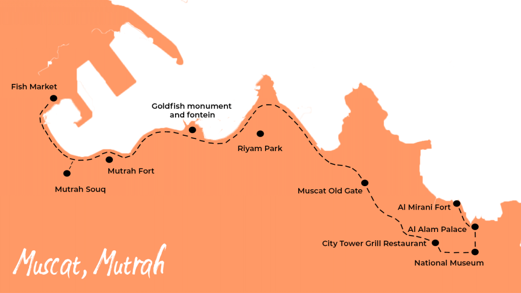 Route muscat oman