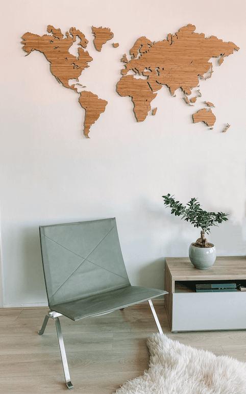 wereldkaart reis