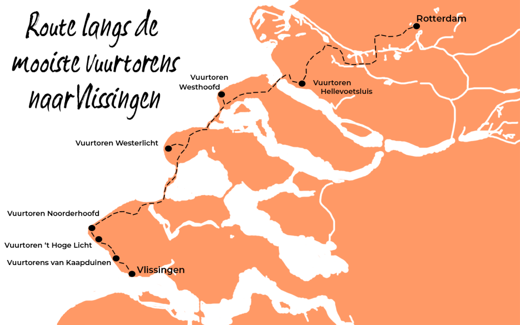 Route vuurtorens Vlissingen