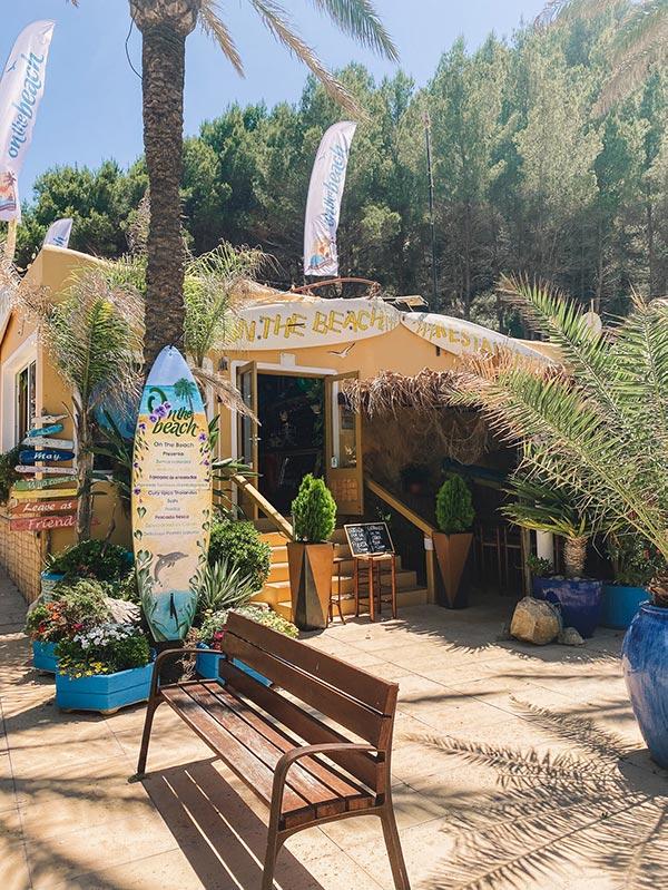 On the beach Ibiza