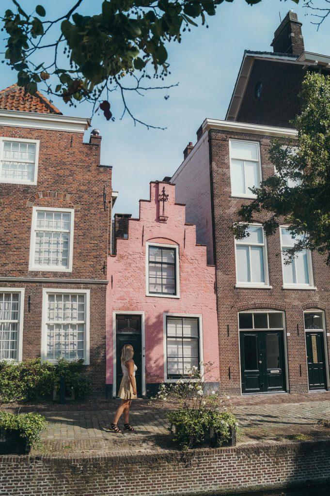 Roze huisje Leiden