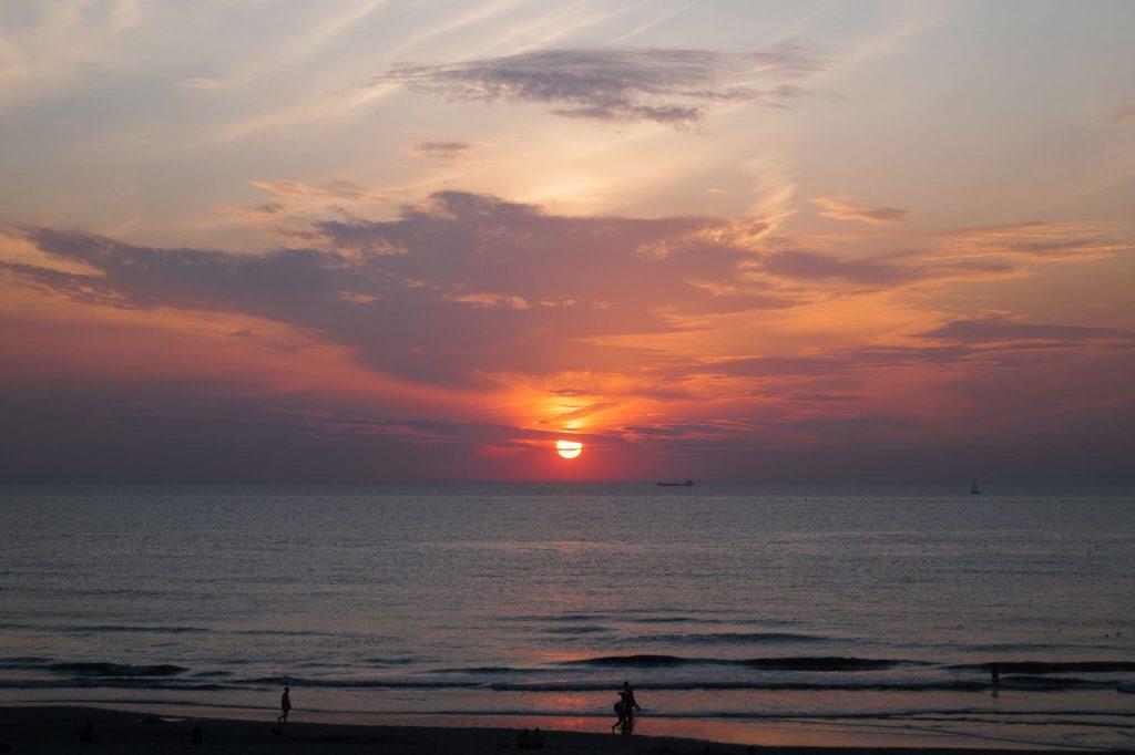 Streek van Verrassingen zonsondergang