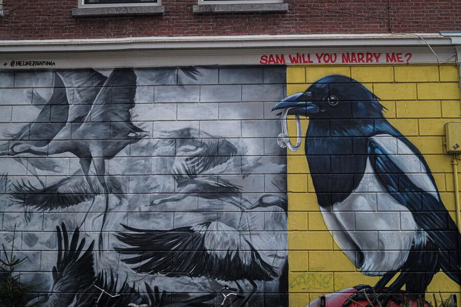 Love Birds street art